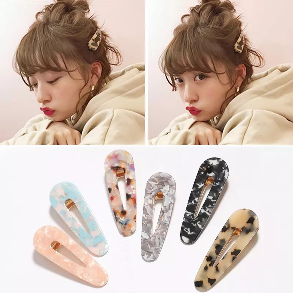 Japanese Vintage Acetate Leopard Colorful Hair Clips Sweet Women Girls Bobby Pins Barrette Hair Accessories For Gifts   Headwear