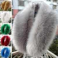 Solid Color Luxury Women Fashion Scarf Faux Fur Collar Scarf Shawl Collar Ladies Winter Warm Wrap Stole Scarves #1128