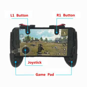 4in1 for iPhone Android Phone PUBG Mobile Controller Game Joystick L1 R1 Triggers PUGB Mobile Gamepad Free Fire L1R1 Joystick V3