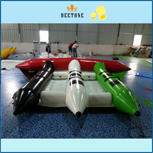 Popular water sports game 0.9mmPVC6 person seat inflatable flying fish banana boat sale цена в Москве и Питере