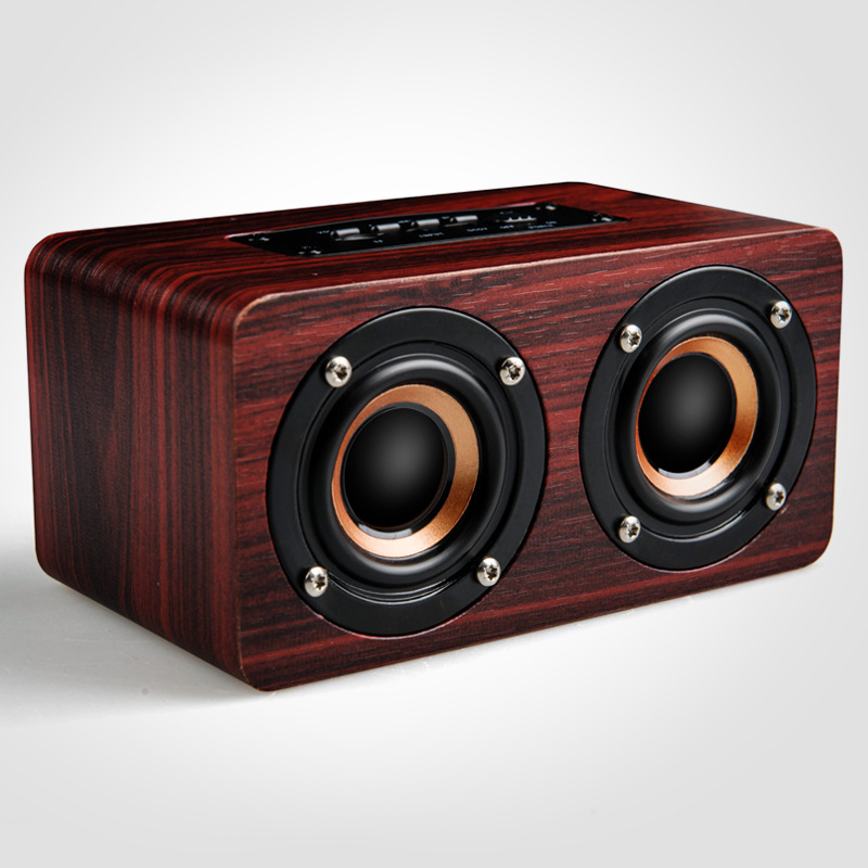 MEMTEQ W5 Wireless Wooden Bluetooth Speaker Card Mini Outdoor Portable Car Audio Stereo Bass Home Radio Decoration New