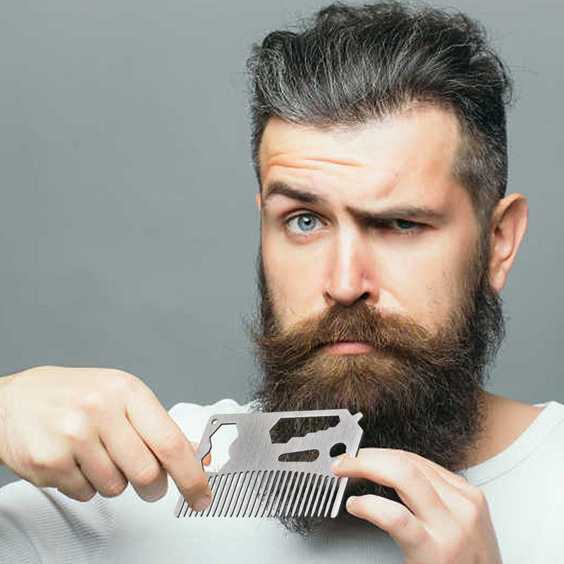 stainless steel beard shaving comb