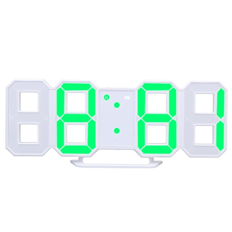 8 Shaped Usb Digital Table Clocks Wall Clock Led Time Display Creative Watches 24-Hour Display Alarm Snooze Home Decoration