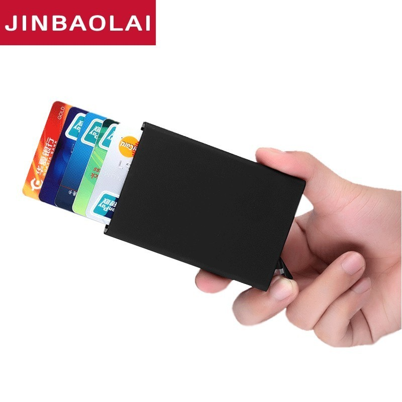 New Fashion Travel Card Wallet Automatic Pop Up ID Credit Card Holder Men Women Business Card Case Stainless Steel Metal Clip xiniu men metal high qualitid credit card holder automatic card sets pocket stainless steel metal business card holder case wmew