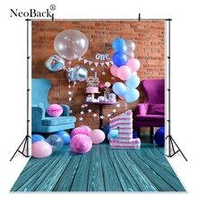 บางไวนิลใหม่เกิดเด็กทารกวันเกิดบอลลูนอาบน้ำPhoto Backdropsเด็กสตูดิโอถ่ายภาพพื้นหลังภาพ