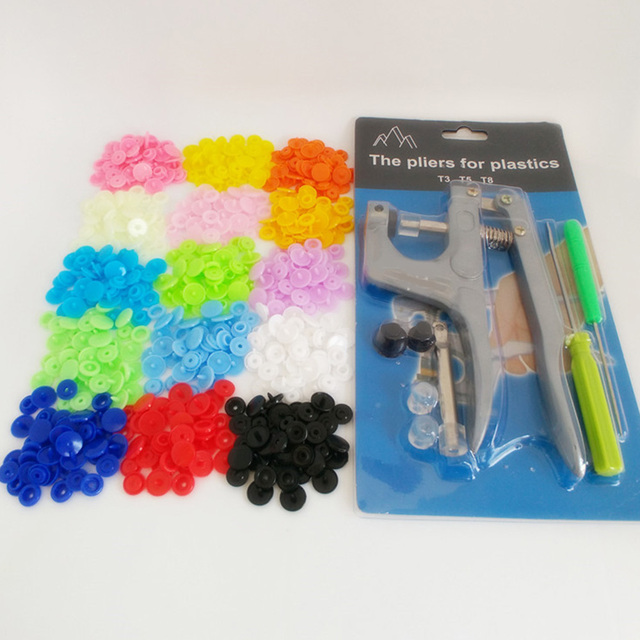 100/150 комплект Смола Snap крепежные детали плоскогубцы Швейные щелкает кнопку самодельные Украшения набор швейных инструментов