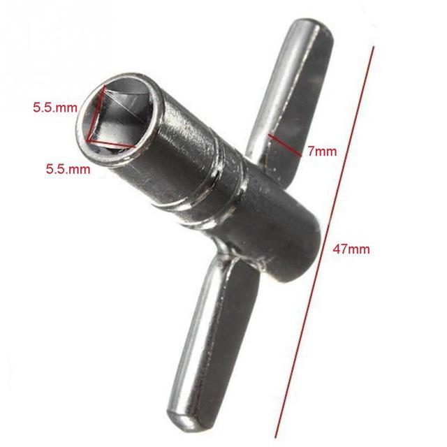 Drum Tuning Key Adjustment Wrench Silver Metal 2