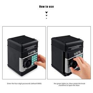 Image 4 - Youool 전자 돼지 저금통 ATM 비밀 번호 돈 상자 현금 동전 저장 ATM 은행 안전 상자 자동 스크롤 종이 지폐 아이를위한 선물