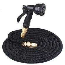 25FT-100FT гибкий шланг для воды удлиняемый садовый шланг Труба спрей для полива пистолет набор автомобиля поливный шланг с распылителем полива комплект