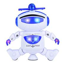 LED Light Music Dancing Humanoid Electric Robot Toy Children Infrared Spaceman Toy Electronics Jouets Electronique For Kid Gift(China)