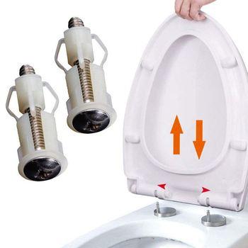 Gran oferta, bisagras para asiento de inodoro, tornillos, fijación de orificio de WC, fácil instalación, 2 paquetes