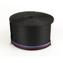 Car Seat Belt Strip Auto Safety Webbing  Racing Harness Ribbon Blue Red Wholesale For BMW