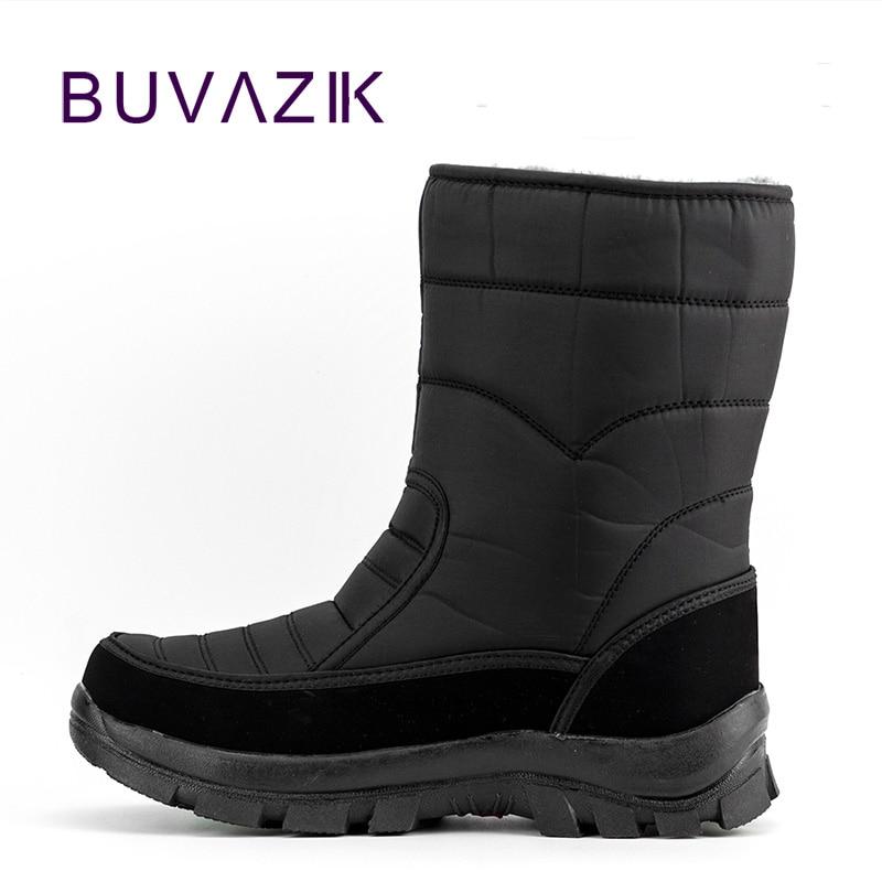 2017 hombres impermeables botas de caza engrosamiento botas térmicas de nieve al aire libre cálido zapatos de piel militar botas del desierto masculino