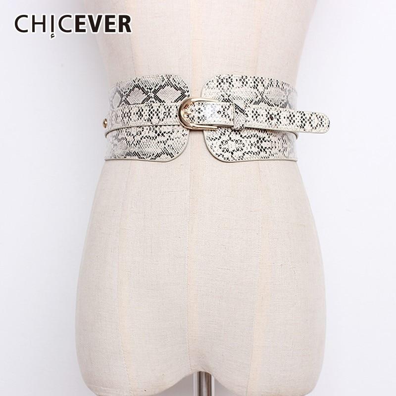 CHICEVER 2019 Autumn Winter Fashion Vintage Wide Belt Female Elastic Waist Hit Colors Belts For Women Coat Accessories