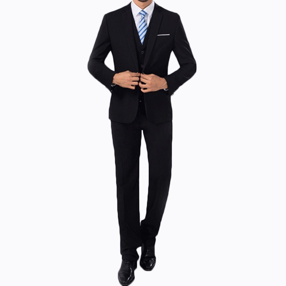 2 Pcs Mens Fashion Plaid Boutique Formal Business Suit Jackets Men Groom Wedding Dress Suit Coats Mens Casual Suit Blazers in Suits from Men 39 s Clothing