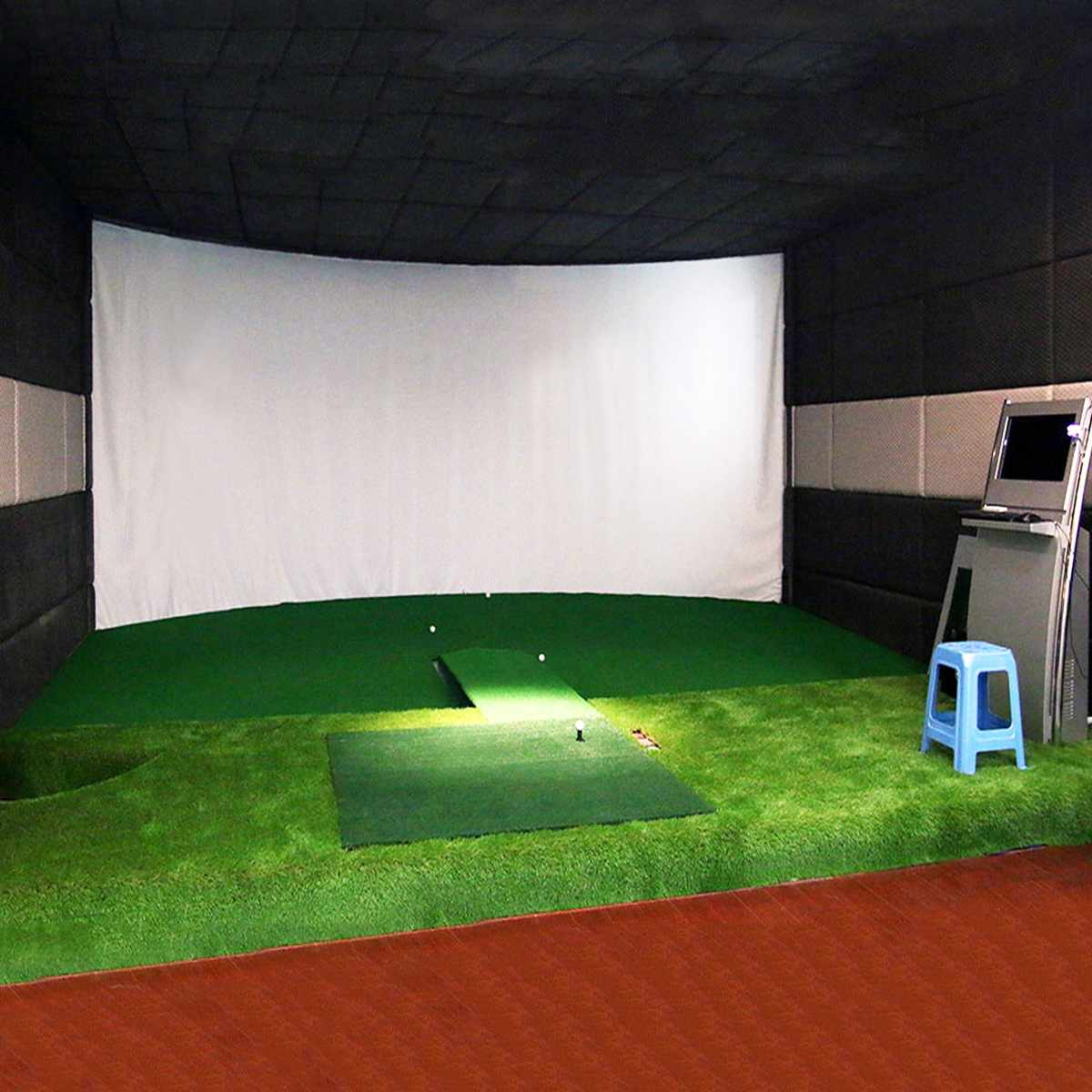 300*200CM Golf Ball Simulator Impact Display Projection Screen Indoor White Cloth Material