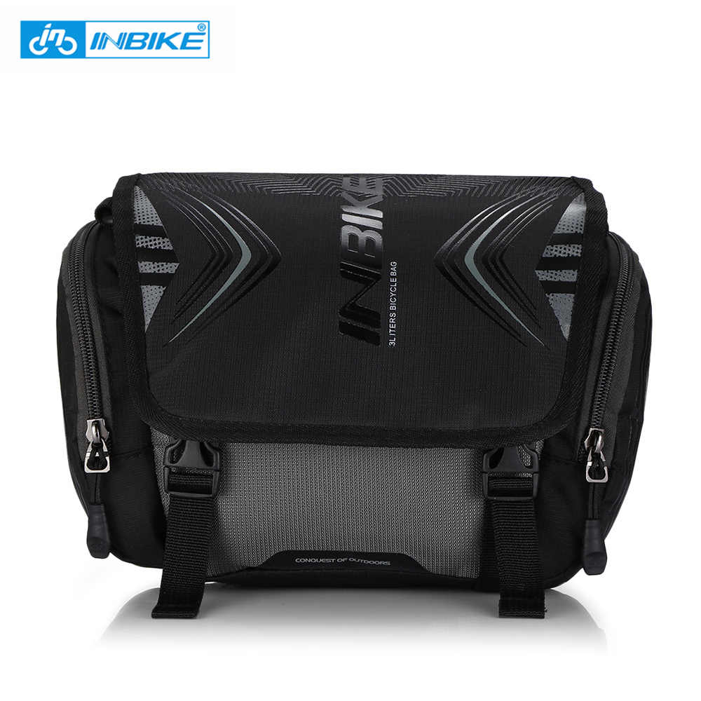 INBIKE Oxford Cloth Waterproof Bike Bag Portable Bicycle Handlebar Pocket Large Capacity Backpack With Multi-Purpose Pocket