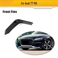Front Bumper Fins For Audi TTRS 2 Door Coupe Carbon Fiber 2pcs Fins 100% Fitment 3D Design