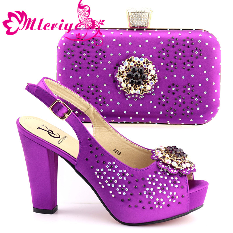 A208 Italian Shoes with Matching Bag Set Decorated with Appliques African Shoes and Bags Matching Set Elegant Italian Women PumpA208 Italian Shoes with Matching Bag Set Decorated with Appliques African Shoes and Bags Matching Set Elegant Italian Women Pump