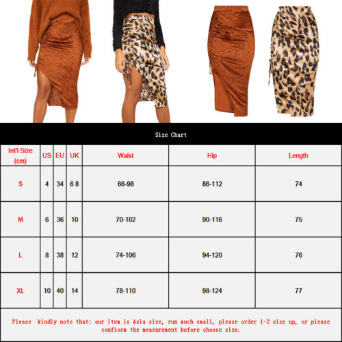 Summer Women Skirts 2019 New Casual Women Leopard Print Loose Lace Up Skirt High Waist Mid Calf Skirt in Skirts from Women 39 s Clothing