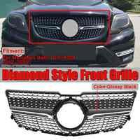 Alta qualidade x204 diamante grille carro amortecedor dianteiro grill grille para mercedes para benz glk x204 glk250 glk300 glk350 2013-2015