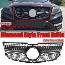 Alta qualidade x204 diamante grille carro amortecedor dianteiro grill grille para mercedes para benz glk x204 glk250 glk300 glk350 2013 2015