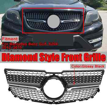 HIgh Quality X204 Diamond Grille Car Front Bumper Grill Grille For Mercedes For Benz GLK X204 GLK250 GLK300 GLK350 2013-2015 - DISCOUNT ITEM  33% OFF All Category