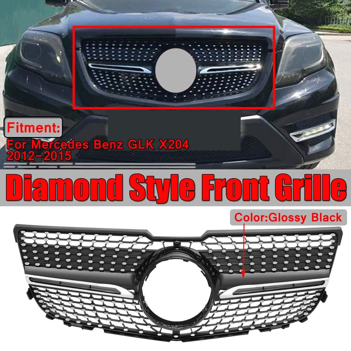 Haute qualité X204 diamant Grille de voiture pare-chocs avant Grille pour Mercedes pour Benz GLK X204 GLK250 GLK300 GLK350 2012-2015