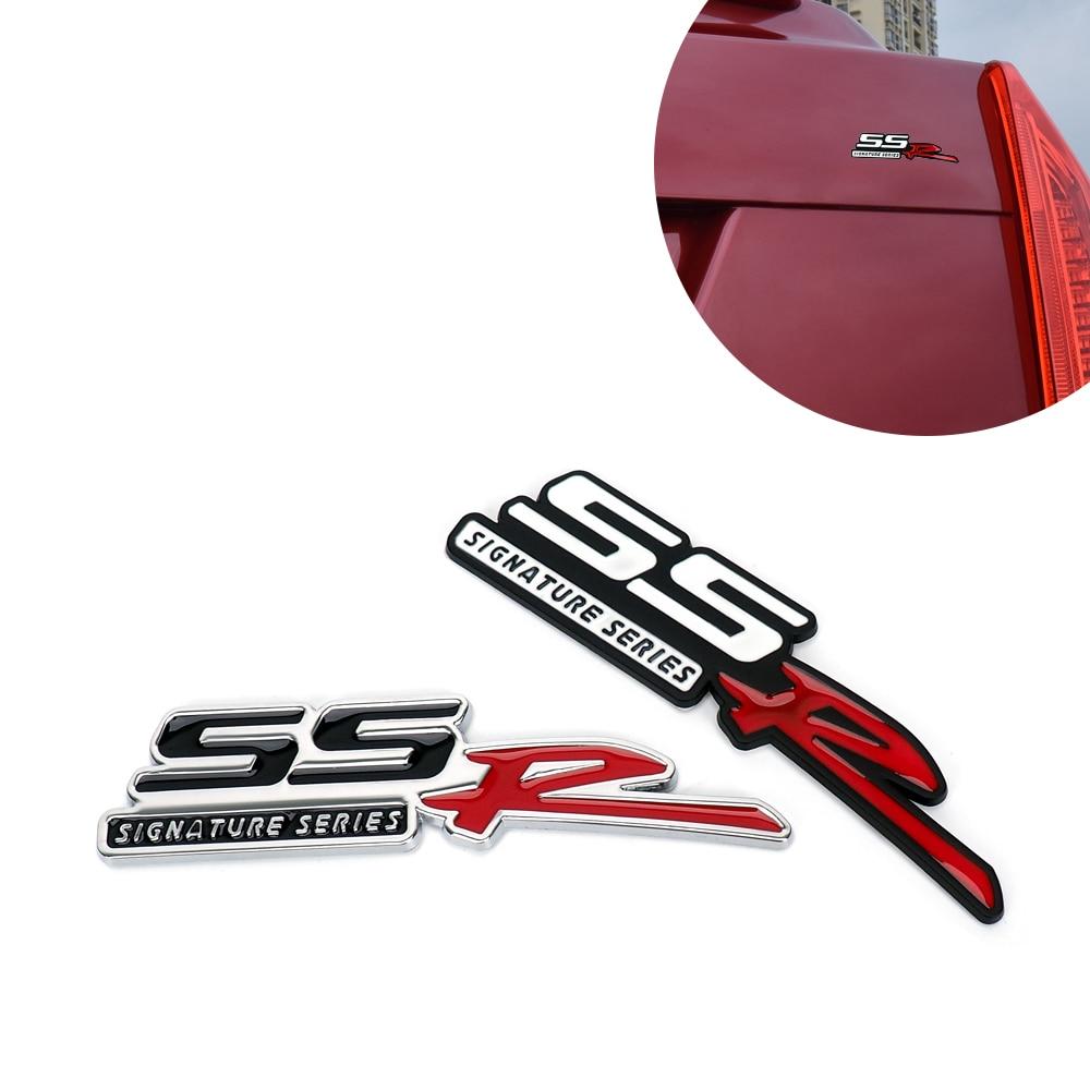 Chrome 3d Metalen Embleem Badge Stciker Ssr Signature Series Auto Sticker Voor Chevrolet Camaro Silverado Corvette Traverse Naambord Bekwame Productie