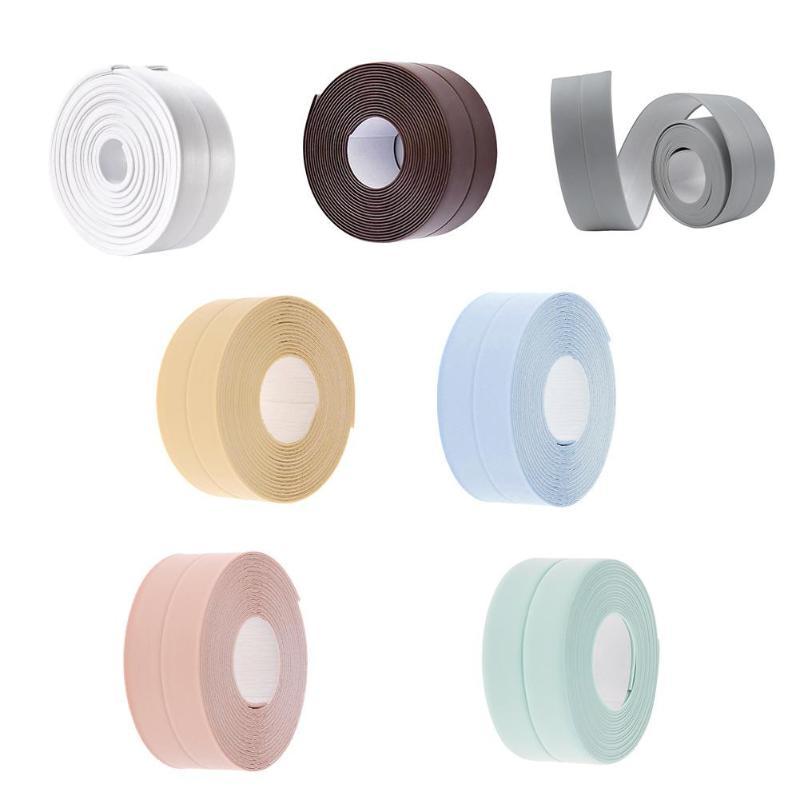 Self-adhesive Kitchen Ceramic Sticker Waterproof Mildew Resistant Rubber Sealing Sticker Strip Tape 3.8x320cm