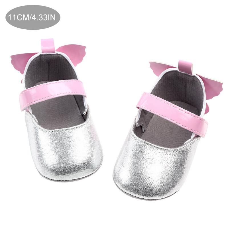 0 1 Year Old Female PU Baby Shoes Non Slip Princess Baby Toddler Shoes in First Walkers from Mother Kids