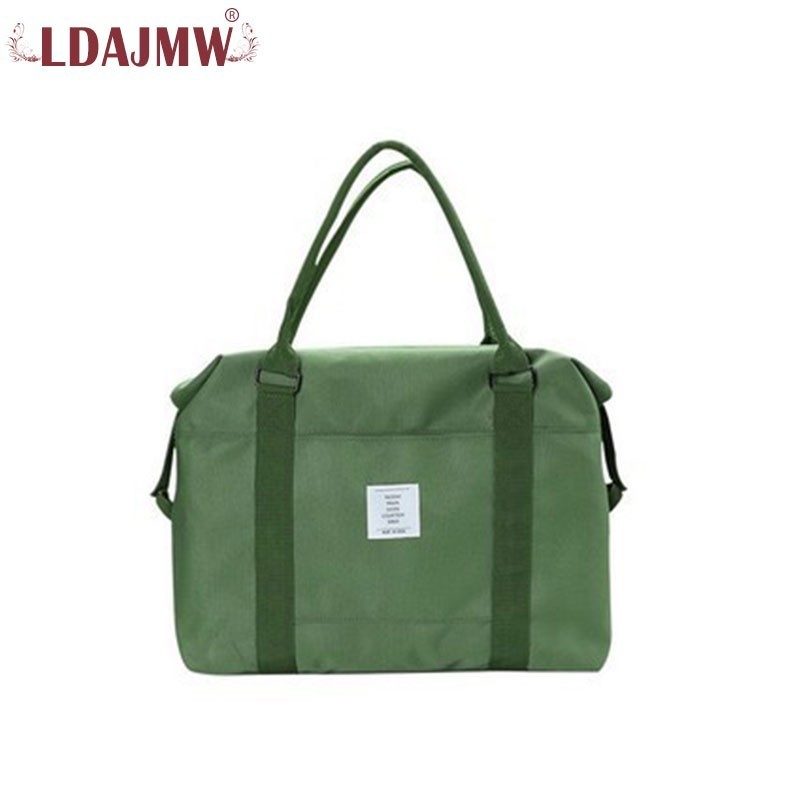 Wearable Canvas Material Solid Color Travel Shoulder Bag Large Capacity Men And Women Hand Raised Line Can Be Fixed
