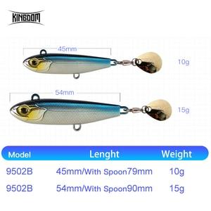Image 3 - בריטניה 2019 חדש VIB דיג פתיונות באיכות גבוהה 45mm/10g 54mm/15g פיתיונות מלאכותיים שני סוגים של פעולות Wobblers קרס דיג