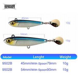 Image 3 - Kingdom 2019 New VIB Fishing Lures High Quality 45mm/10g 54mm/15g Artificial Baits Two types of Actions Wobblers Fishing Tackle