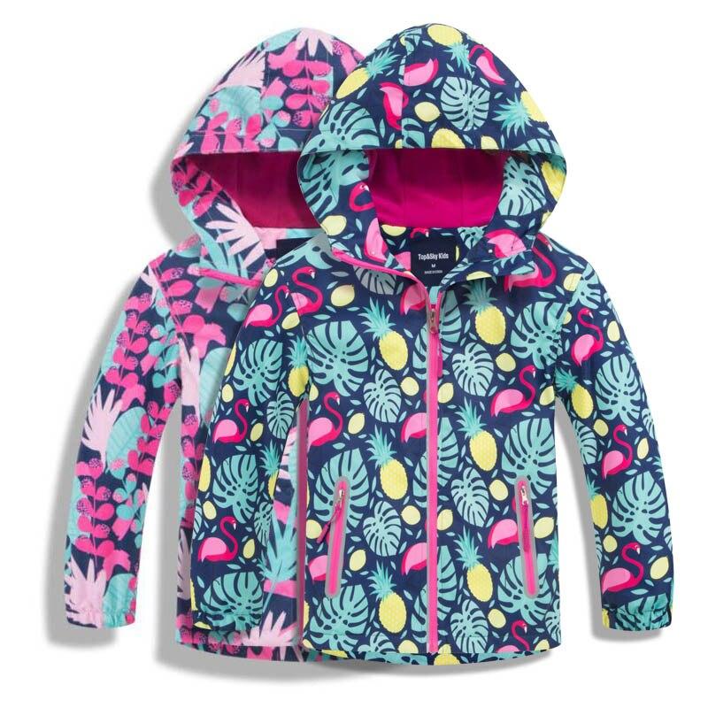 Girls Outerwear Sport Jacket Waterproof Jackets Windproof Autumn Polar Fleece Warm Coat Children Jacket Kids Windbreaker Hoodies