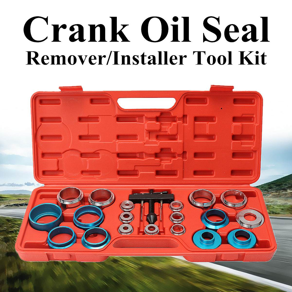 20 in 1 Carbon Steel Car Camshaft Crank Oil Seal Disassembly Tool Kit Case Seal Extractor Grease Car Repair Tools Universal