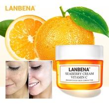 LANBENA Vitamin C Facial Cream Whitening Moisturizing Brighten Improving Dull Skin Peptide Anti Wrinkle Anti Aging Lifting 40g