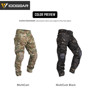 Image 5 - IDOGEAR Tactical G3 Pants with Knee Pads Airsoft Trousers MultiCam CP gen3 Hunting Camouflage black 3201