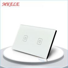 Настенный выключатель с сенсорным экраном американский стандарт