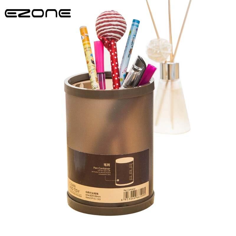 EZONE 1PC Simple DIY Desktop Pen Holder 4 Color Detachable Desktop Collection Box Grinding Plastic Office School Supplies