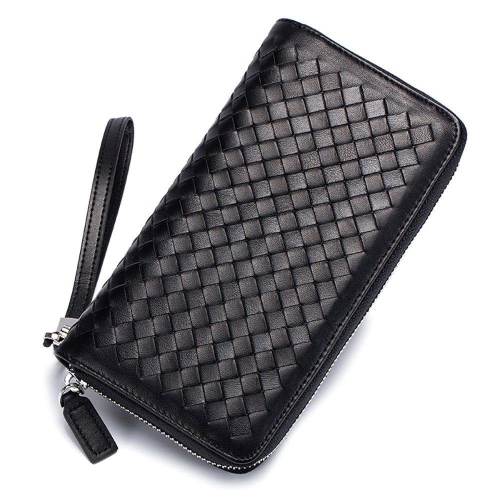 Casual Genuine Leather RFID Blocking Men Card Purse Credit Card Case Organizer Passport Knitting Women Wallet 36 Card Holder