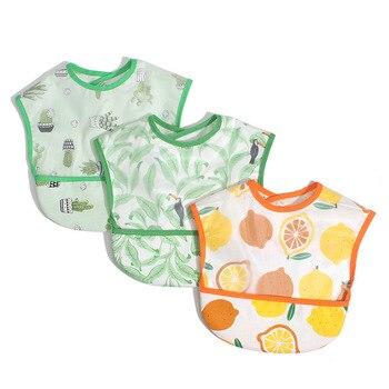 Baby Bibs EVA Waterproof Lunch Bibs Cartoon Fruits Printing Infants Bibs Boys Girls Feeding Burp Cloths Bibs Apron 1