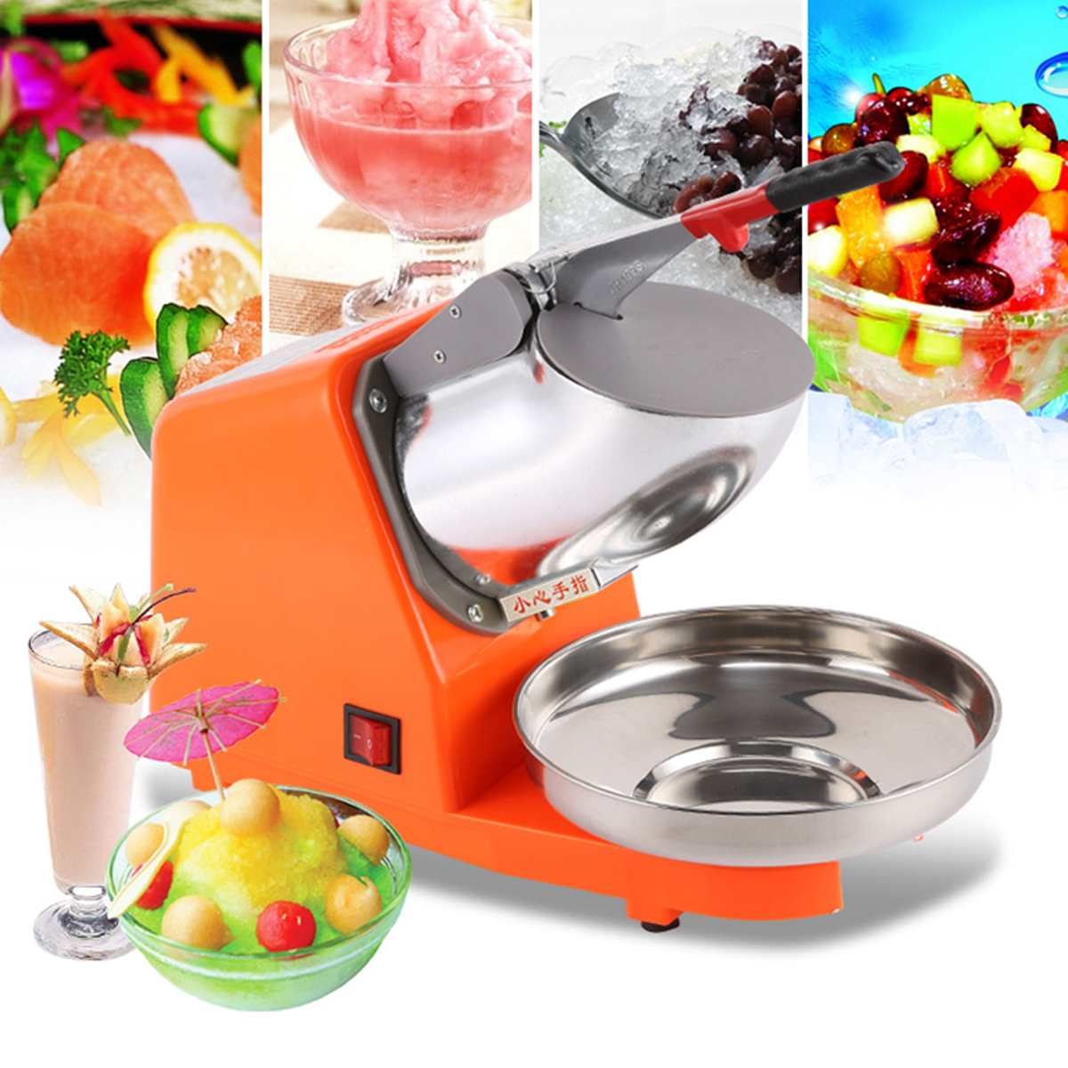 380W 65KG/Hr Electric bar cocktail ice crusher shaver machine Smoothie Machine Ice Shaver ice crusher summer sweetmeats sweet ice food making machine manual fruit ice shaver machine zf