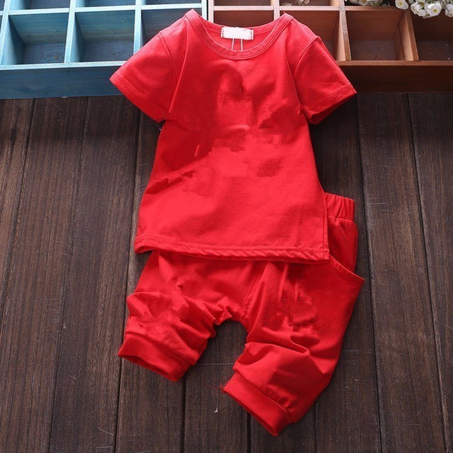 Brand Baby Clothing Designer Newborn Clothes 2019 Summer Baby Girls and Boys Suits Short Sleeved T-shirt + Shorts Clothing Sets 3