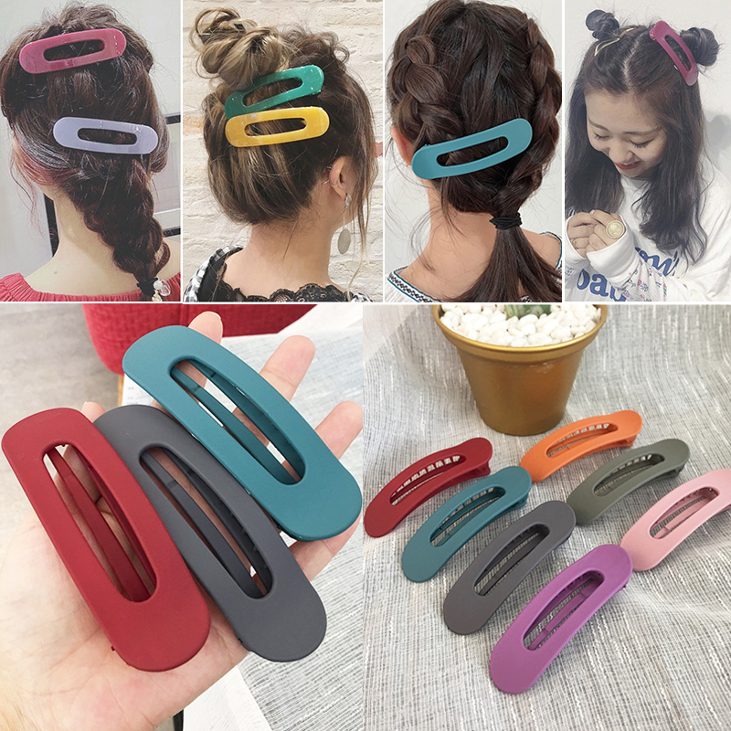 Non-slip Fashion 1 piece Women Bangs hairpin Duckbill clip Acrylic Girl Japanese Korean Large size Simple Hot sale   Headwear