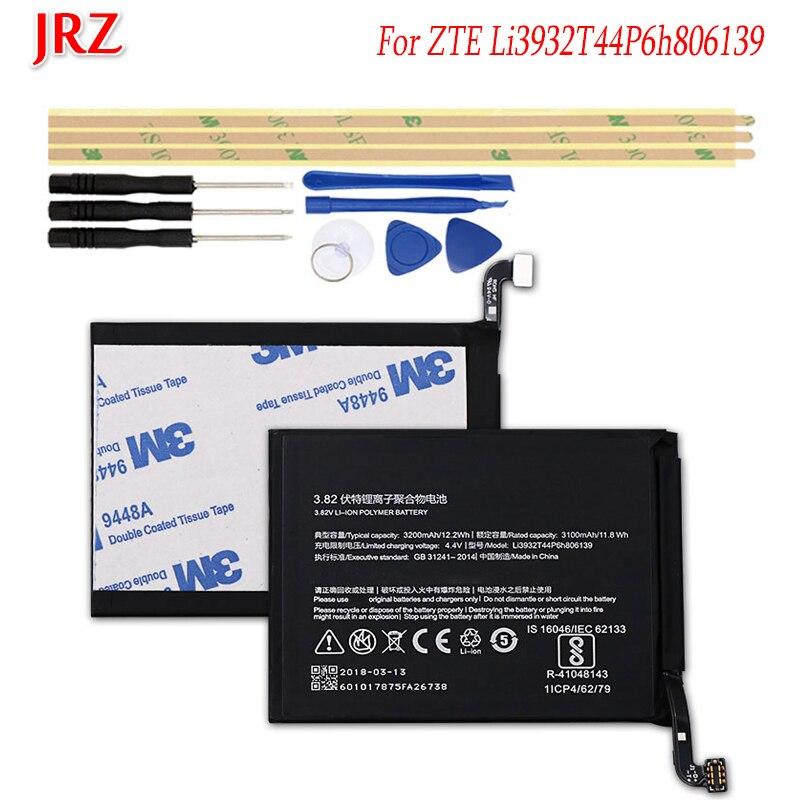Batería JRZ 3100mAh Li3932T44P6h806139 para ZTE Nubia Z17 NX563J, baterías de reemplazo de teléfono, batería con juego de herramientas