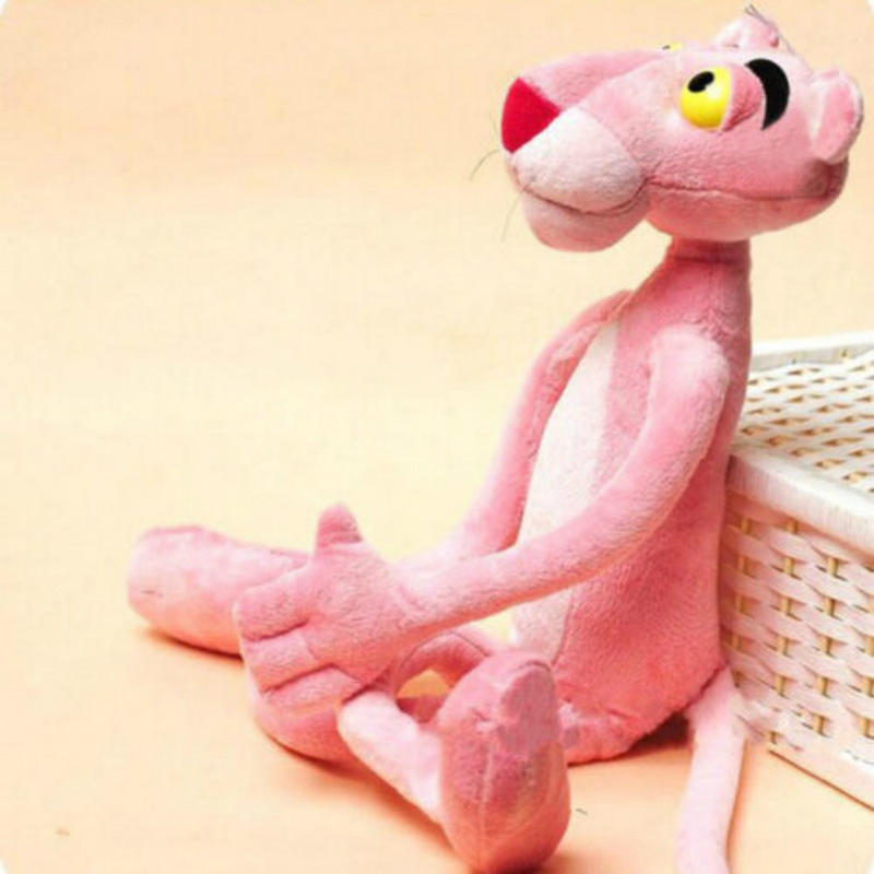 16x40CM Cute Soft Plush Nano Doll Toy Stuffed Animal Naughty Pink Panther Child Plaything Kids Naughty Plush Gift