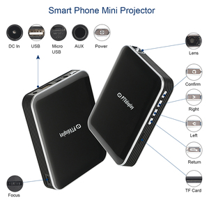 Image 4 - Super Cheap 200ansi Smart Phone Mini Projector with Battery,Wired Same Screen LED DLP Multimedia Projector,Video Game Proyector