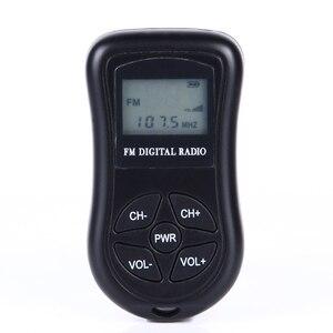 Image 2 - LEORY Mini altavoz de Radio Digital LCD, FM, 3,5mm, conector para auriculares, portátil, receptor de Radio con pantalla DSP