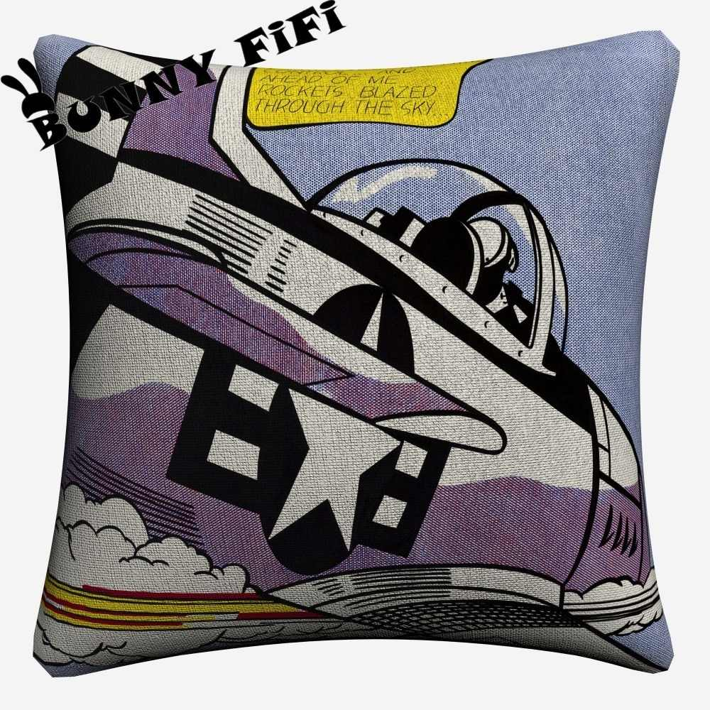 Whaam Comic Pop Art Decorative Pillow Covers For Sofa Home Decor Linen Cushion Case 45x45cm Throw Pillow Cases